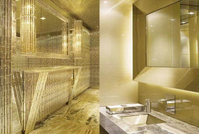 The Dolce and Gabbana Gold Bathroom