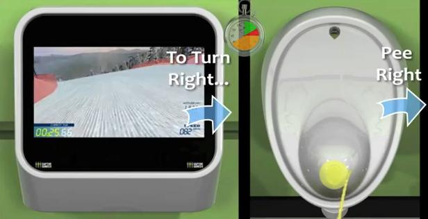 Urine-Control Video Game Toilet