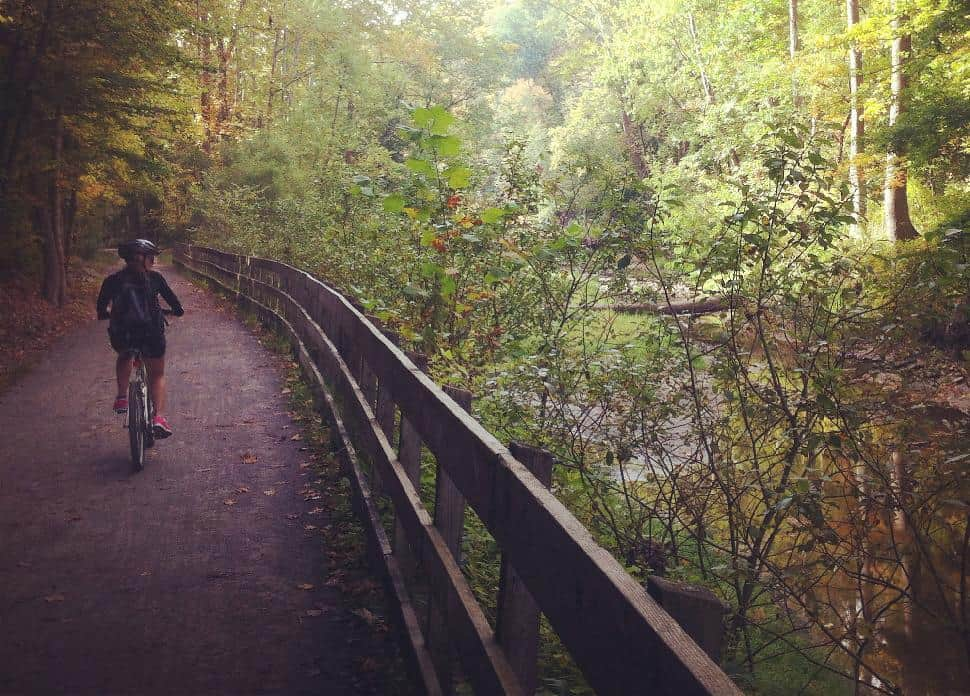 Towpath Trail - Biking Scenery