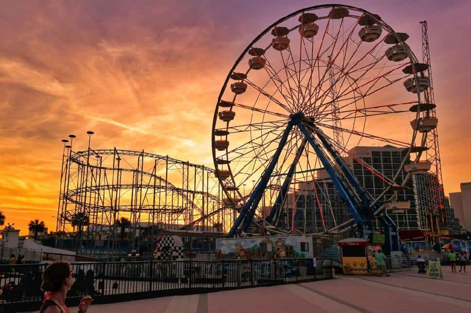 Ferris Wheel Daytona Beach Sunset
