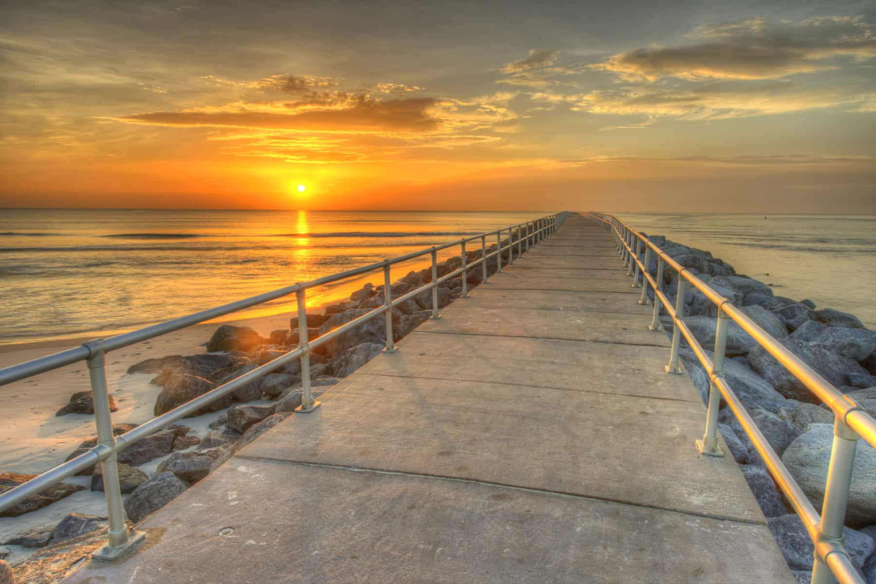 Sunset on Daytona Beach
