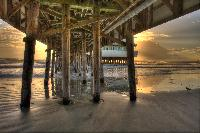 A Sunset Beneath the Main Street Pier