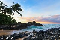 Morning light at Secret Cove, Maui.