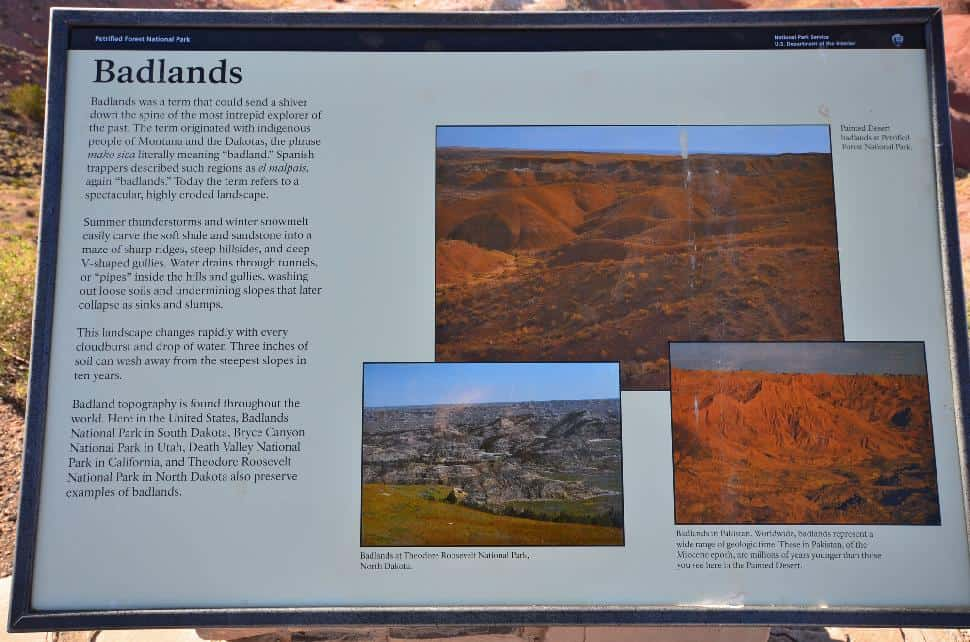 Painted Desert Badlands Sign