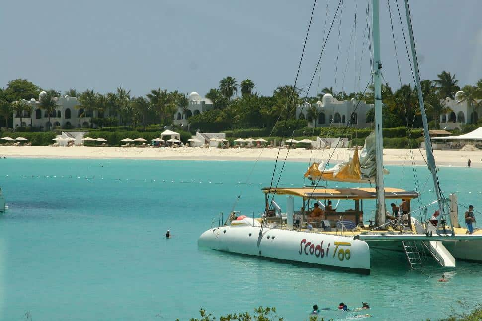 anguilla beach catamaran