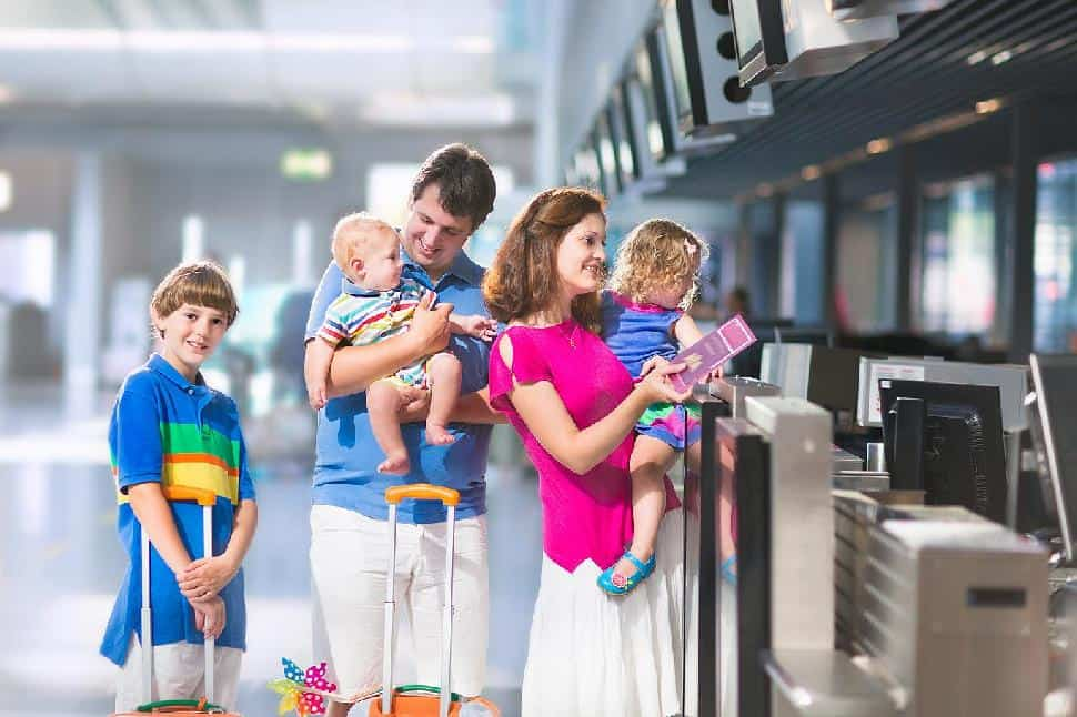 family travel airport