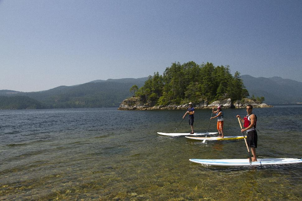 stand up paddle boarding sechelt inlet