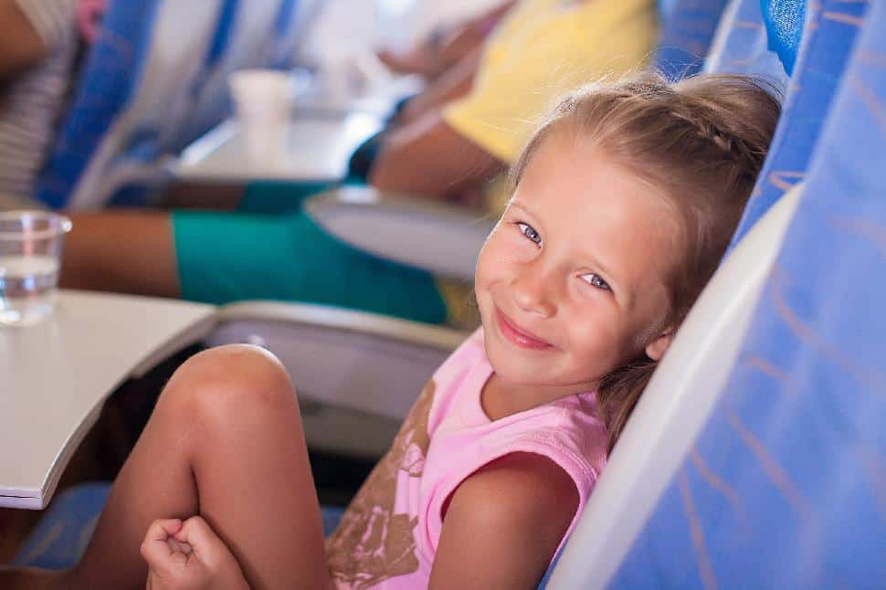 kid flight happy travel children international abroad holiday