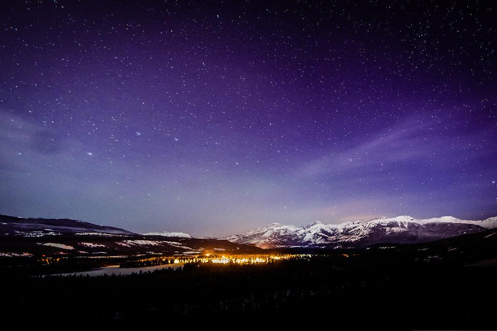 Jasper (Marmot Basin) alberta night