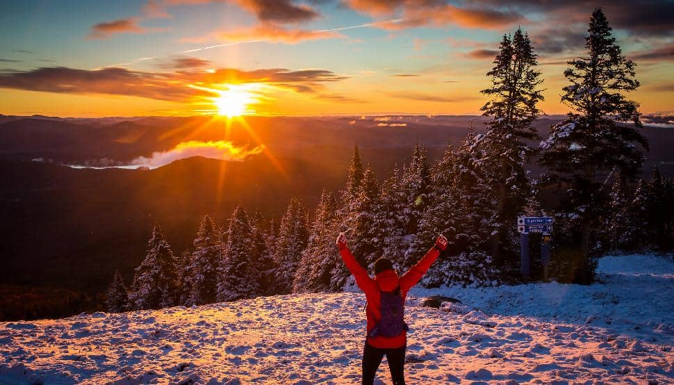 Tremblant sunrise sunset