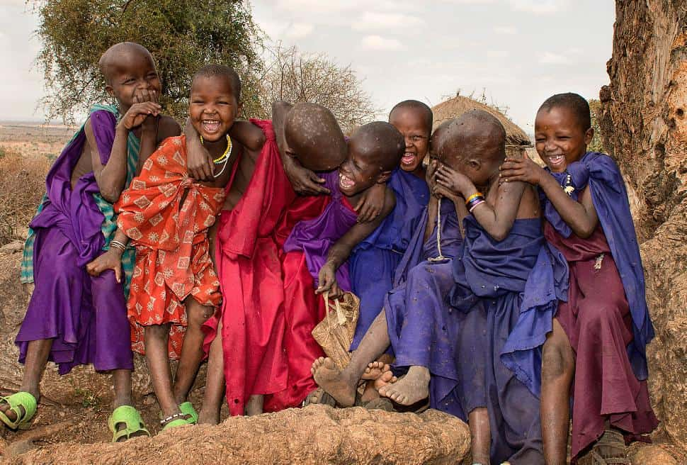 smiling tanzania children