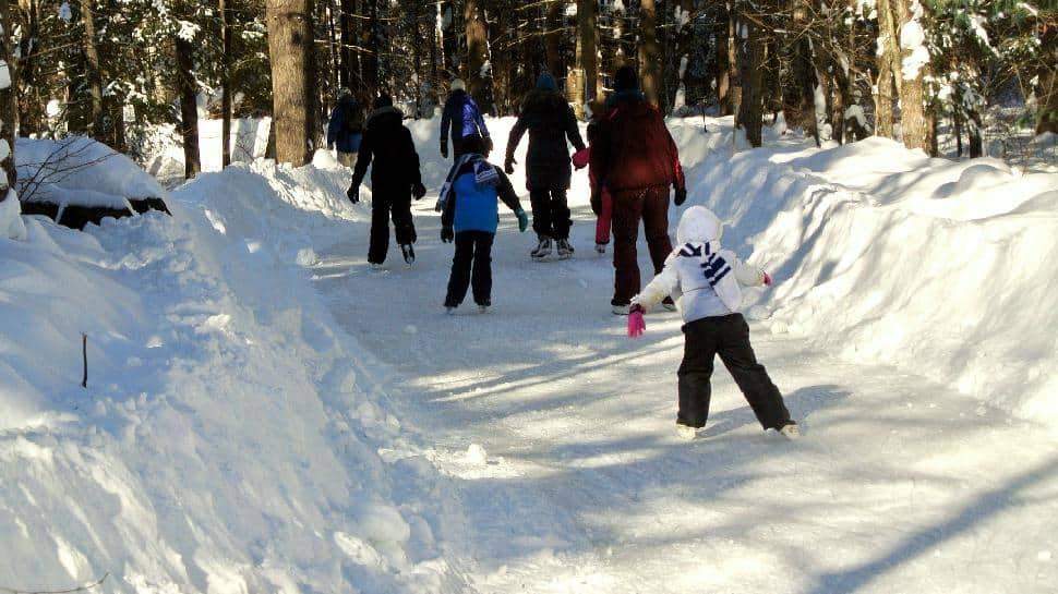 Arrowhead Provincial Park's Ice Skating Trail