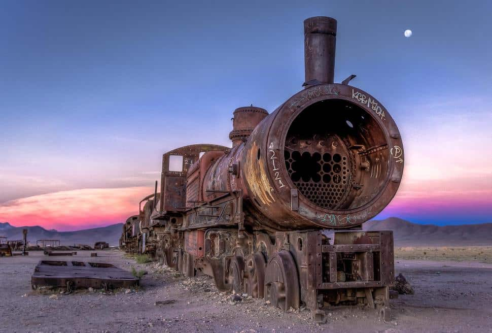 Bolivia Train Graveyard
