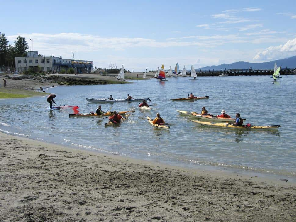 Kitsilano Jericho Beach Kayaking Swimming