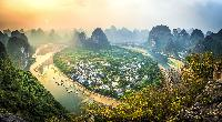 guilin china fisheye mountains gorgeous  scenery