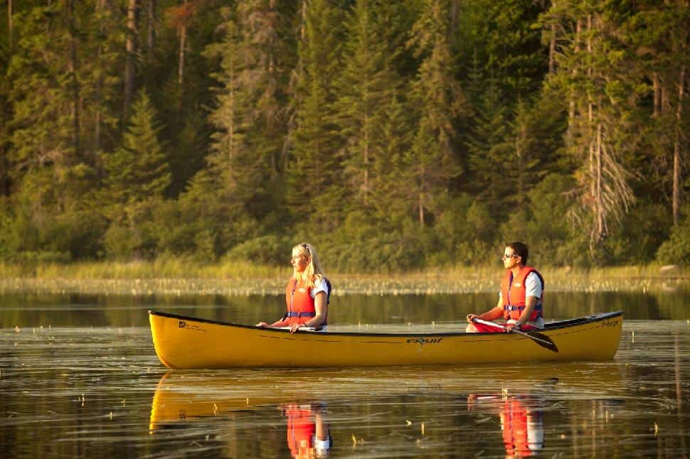 canoeing parc national du mont-tremblant