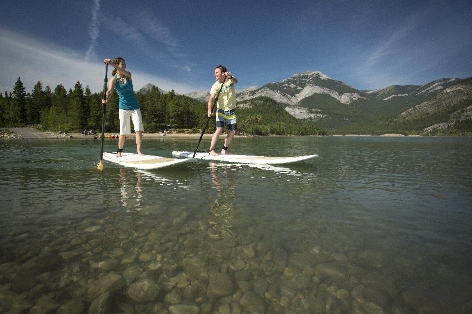 Stand Up Paddleboarding Barrier Lake