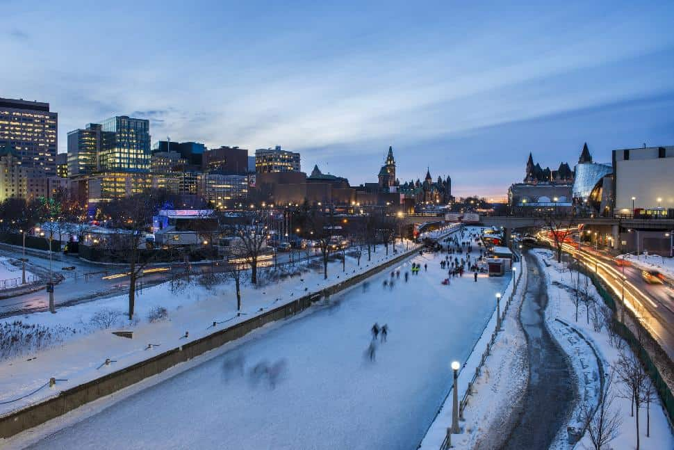 rideau canal skating winter frozen
