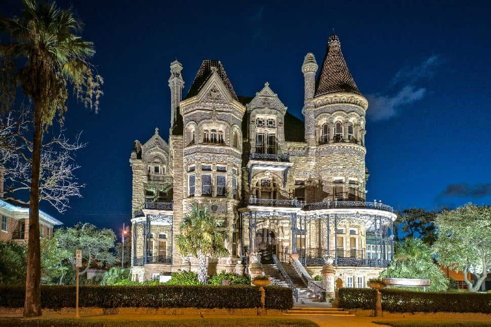 Moody Mansion At Night Galveston