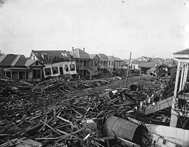 hurricane wreckage