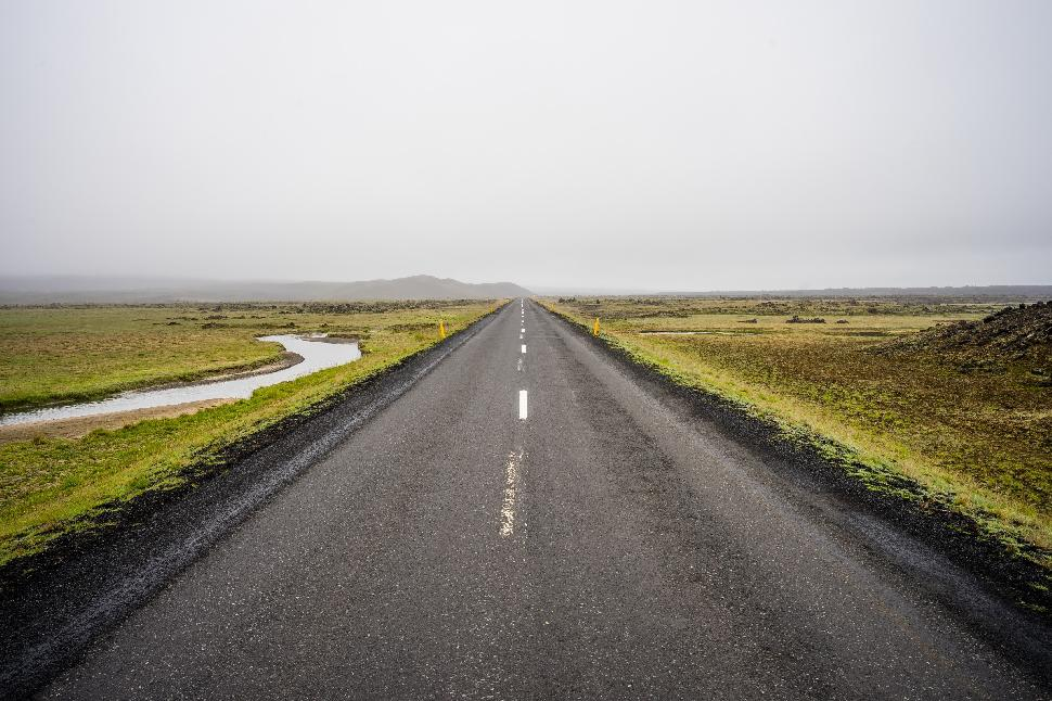 iceland lonely road