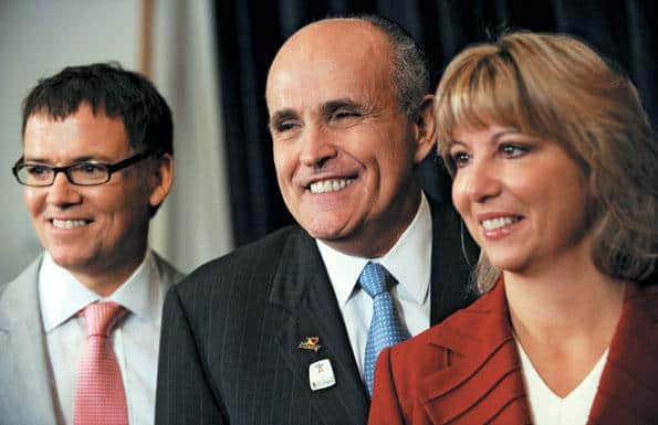 Kevin Falcon with Rudy Giuliani and Dianne Watts