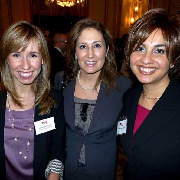 Lindsay Nahmiache of Jive Communications (l), Christina Howton of PWC and Maria Rayanayagam of RBC.