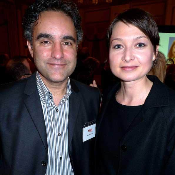 Bruce Croxon and winner Allison Hegedus of VIDA Spa picked up an award for her vision of relaxation.
