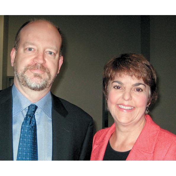 Bill Tieleman and former BC NDP party leader Carole James, 2008.