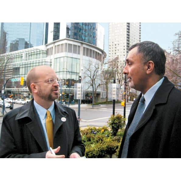 Bill Tieleman with former ministerial aide Dave Basi, 2010.