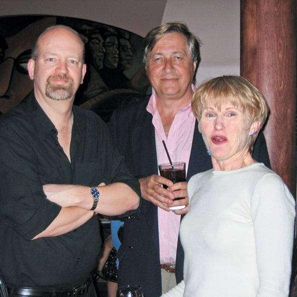 Bill Tieleman with former BC NDP MLA Joy MacPhail and her husband, James Shavick, 2005.