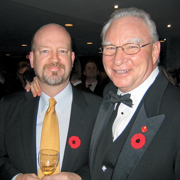 Bill Tieleman with former Vancouver Mayor Larry Campbell, 2005.