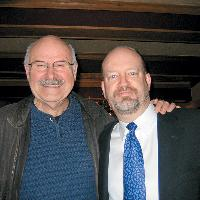 Bill Tieleman with former B.C. premier Mike Harcourt, 2007.