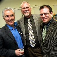 From left: Jack Trumley, president of the Laurel Foundation, with Stanlie G. Hunt and Bevian Hunt of SmartStox.