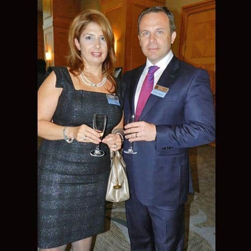 Anabel Barrado (l), Honorary Consul of Spain, with Brent Bergeron, VP of corporate affairs at Goldcorp Inc.