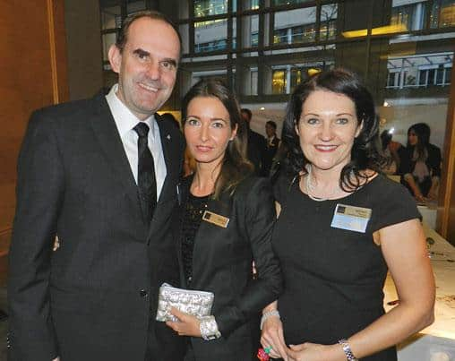 The team from Sparkling Hill Resort (from left): CEO Hans Peter Mayr, Nadja Mair and Wendy Patriquin.
