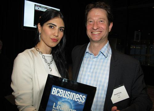 Shahrzad Rafati (l), CEO of BroadbandTV Corp., with Innovators panellist David Ian Gray of DIG360 Consulting. BroadbandTV placed first on the 2012 Innovators list.