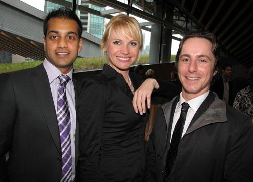 From left: Joshua Zoshi, president and founder of Saltworks Technologies Inc.; Jackie Peterson of CrossBorder PR; and Ben Sparrow, CEO and founder of Saltworks Technologies Inc. Saltworks ranked second on the 2012 Innovators list.