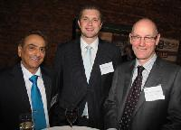 The team from Enwave Corp. (from left): director and EVP of sales Bino Anand; director of marketing and corporate affairs Brent Charleton; and chairman and CEO Dr. Timoth Durance. Enwave was number 20 on the 2012 Innovators list.