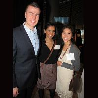 From left: Timothy Costello, marketing and sales manager of Curious Mind Productions Inc., with Shaylen Anita and Andria Li. Curious Mind Productions was number 19 on the 2012 Innovators list.