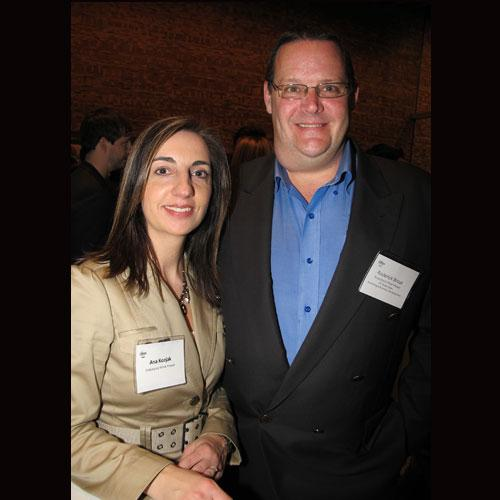 Endurance Wind Power Inc.'s Ana Kozjak (l) and VP of global sales/marketing and business development Roderick Brost. Endurance was number 12 on the 2012 Innovators list.