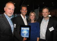 The team from SendtoNews Video Inc. (from left): David Davies, VP of corporate communications; Greg Bobolo, CEO; Leigh Kjekstad, video reporter; and Marc Hoelscher, founding partner and VP of marketing. SendtoNews was number 4 on the 2012 Innovators list.