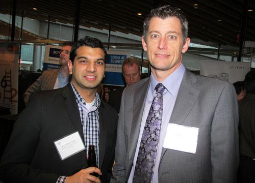 1-888-Wow-1Day! Painting's PR manager, Aly-Khan Virani (l), and founder, Jim Bodden. Wow-1Day! Painting was number 11 on the 2012 Innovators list.