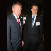 Awesense Wireless's Wes Reith (l) and CEO Mischa Steiner-Jovic. Awesense was number 5 on the 2012 Innovators list.