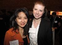 Suzanne Siemans (l) of Lunapads International Products Inc., with Kristy Todd Millar of HSBC. Lunapads International Products was number 17 on the 2011 Innovators list.