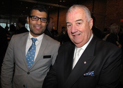 BCBusiness magazine account manager Kuldip Gill (l), with Canada Wide Media Ltd. chairman and CEO Peter Legge.