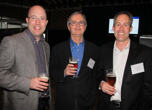 From left: Joel DeYoung, director at Modo the Car Co-op; Phil Baudin, executive director at Modo; and Cory LePage of Lunapads International Products Inc. Modo the Car Co-op and Lunapads International Products Ltd. were both on the 2011 Innovators list at