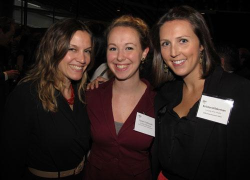 From left: BCBusiness managing editor Kate MacLennan, editorial assistant Sarah Fullbrook and assistant editor Kristen Hilderman.