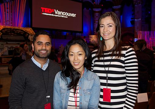 From left: Karm Sumal, editor-in-chief of Vancity Buzz; Crystal Kwon, committee member of TEDxVancouver 2012 and senior account executive at Citizen Optimum PR; and freelance writer Catherine Roscoe Barr. Catherine writes for BCBusiness sister magazine BC