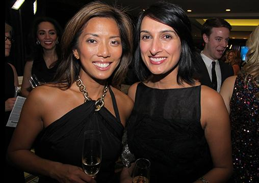 Global News personalities Sophie Lui (l) and Robin Gill.